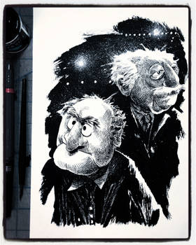 Inktober 2019 Day 29: Statler and Waldorf