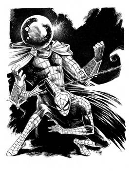 Commission: Spider-Man and Mysterio