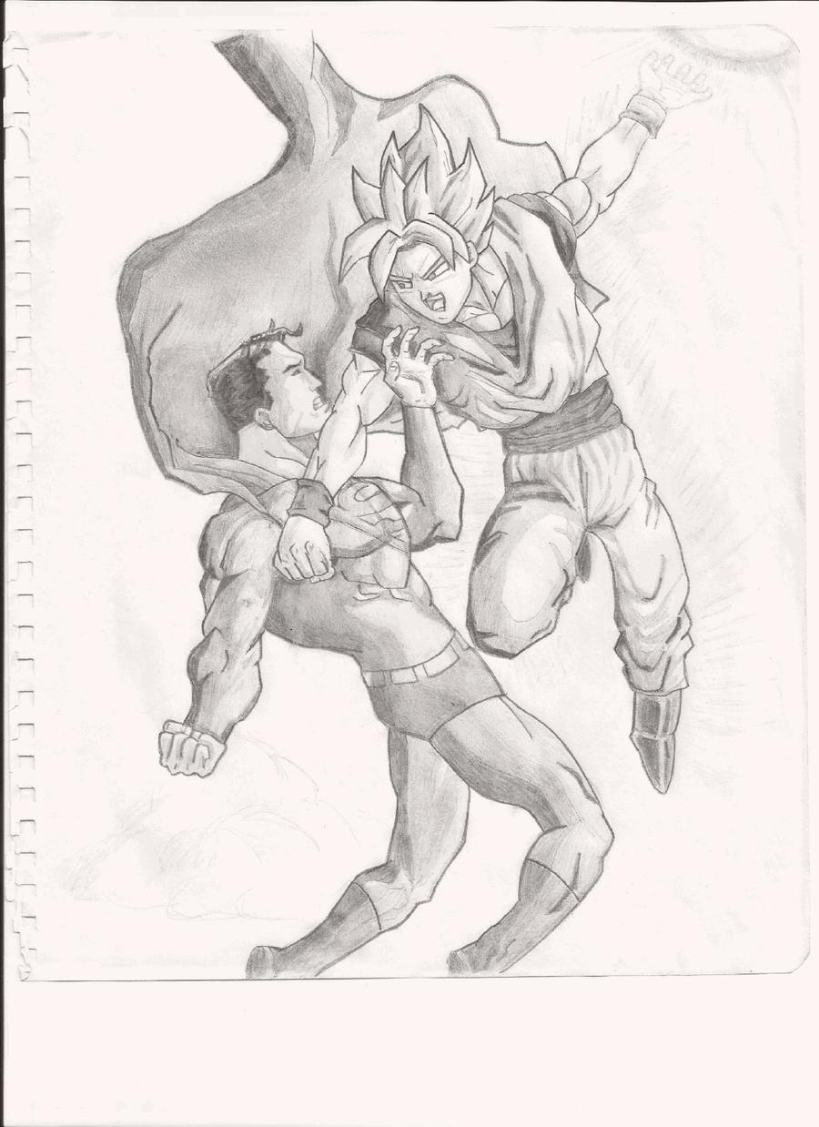 Goku vs Superman by JPablobg on DeviantArt