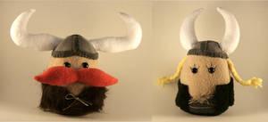 Viking Plushies by Saint-Angel
