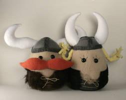 Viktor and Olga Vikings Plush by Saint-Angel