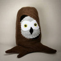 Who's There, Owl in Tree Plush by Saint-Angel