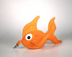 Uber Mini Goldie the Goldfish Plushie Key Chain by Saint-Angel
