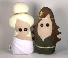 Greek Goddesses Aphrodite and Demeter Plush by Saint-Angel