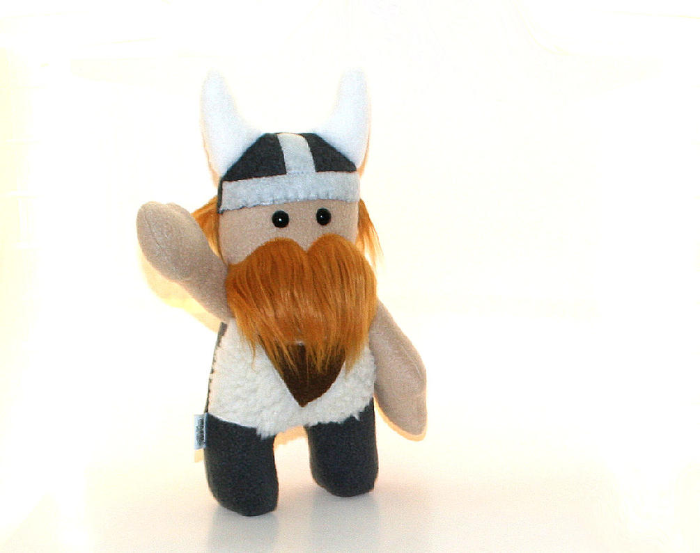 Stuffed Viking Doll with Jointed Arms by Saint-Angel