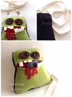 Handmade Zombie Purse, Monster Pocket Mouth Bag