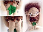 Closeup of Plush Caveman Doll Nakedness