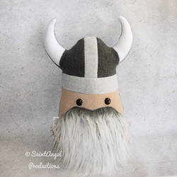 Large Stuffed Viking Pillow Plush by Saint-Angel