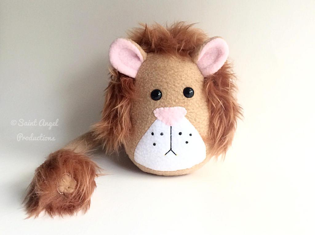 Stuffed Lion Plush, King of the Jungle Wild Animal by Saint-Angel