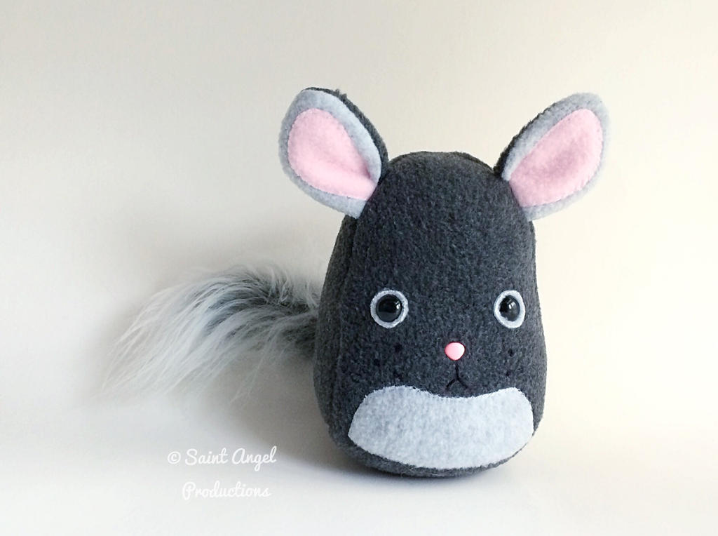 Plush Gray Chinchilla, Stuffed Animal Plushie by Saint-Angel