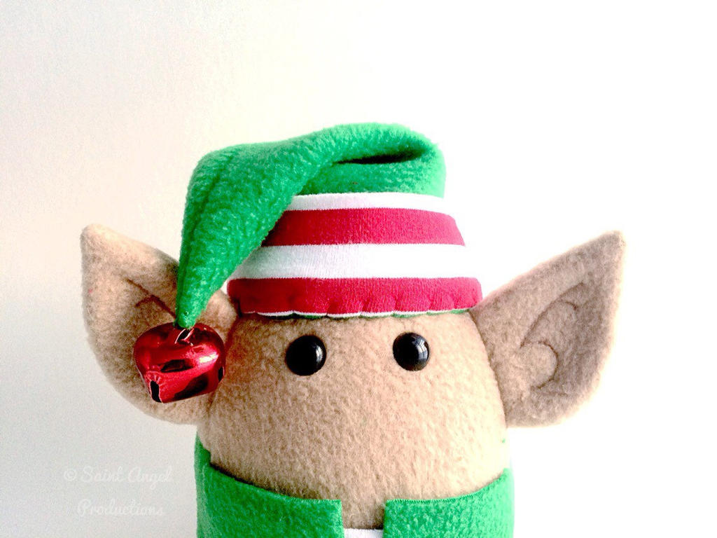 Handmade Plush Elf, Santa's Helper Plushie by Saint-Angel