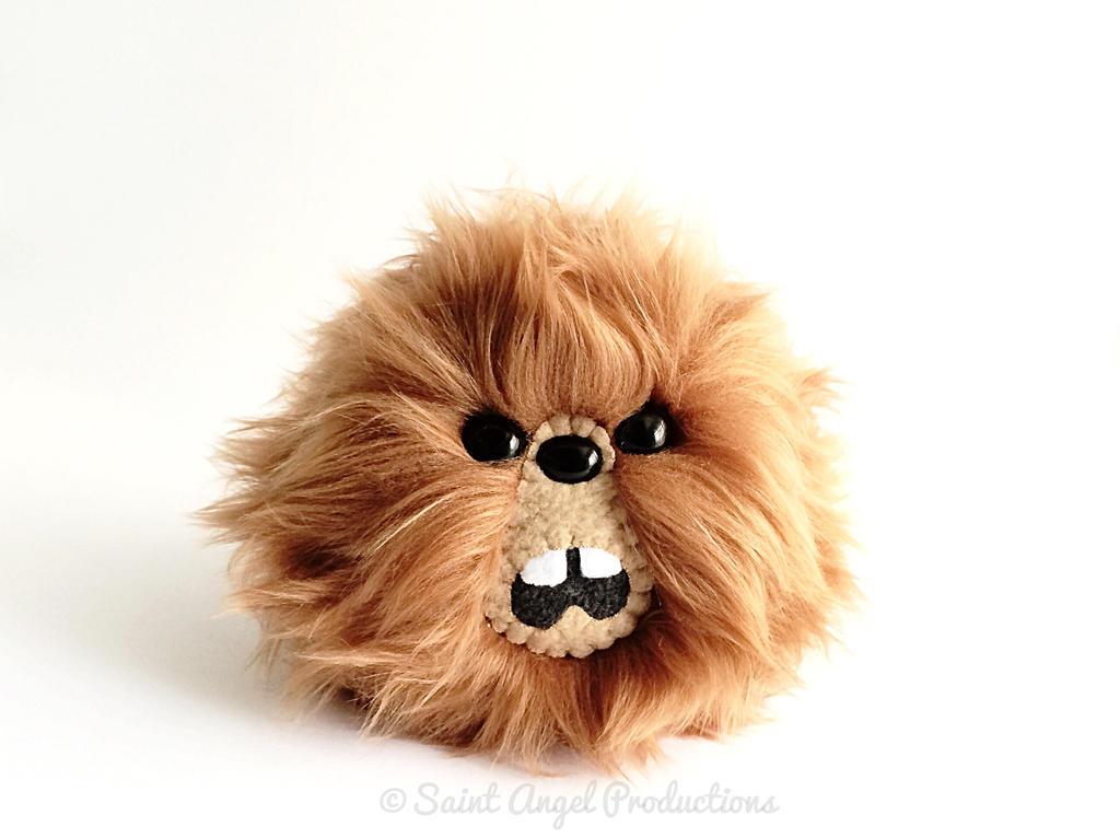 Brown Furry Monster Blob Plush, Handmade Plushie by Saint-Angel