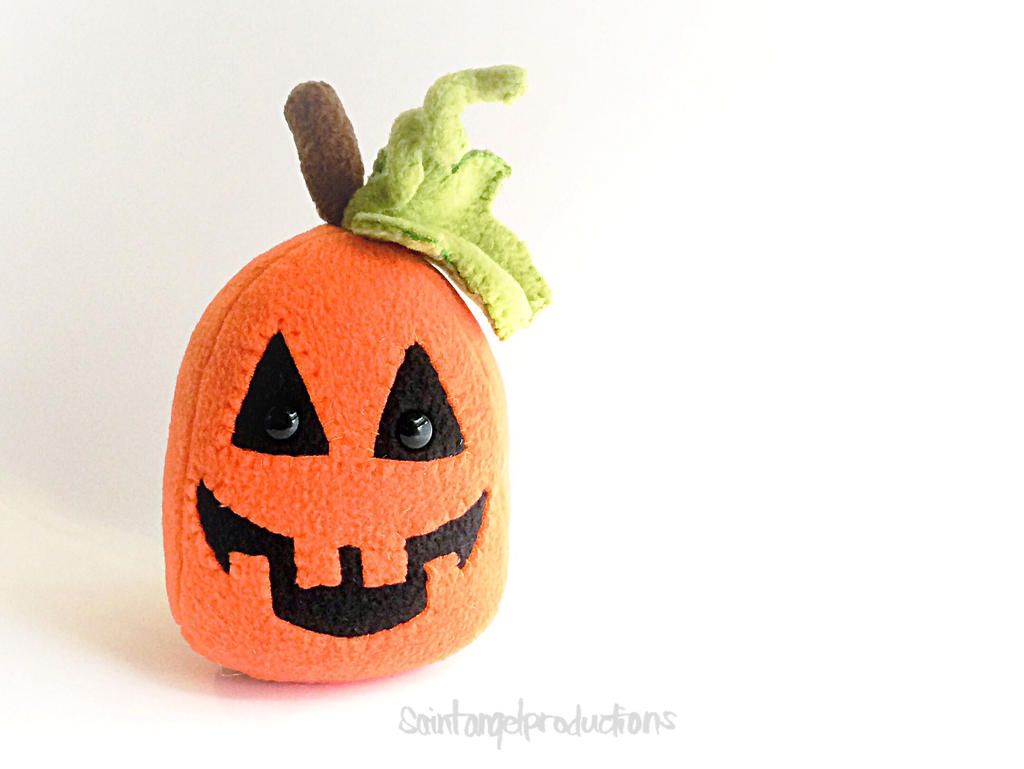 Stuffed Pumpkin Jack O Lantern Plushie, Plushoween by Saint-Angel