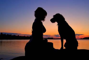 Me and my dog by TigreTortuga