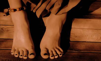My toes loves summer by TigreTortuga