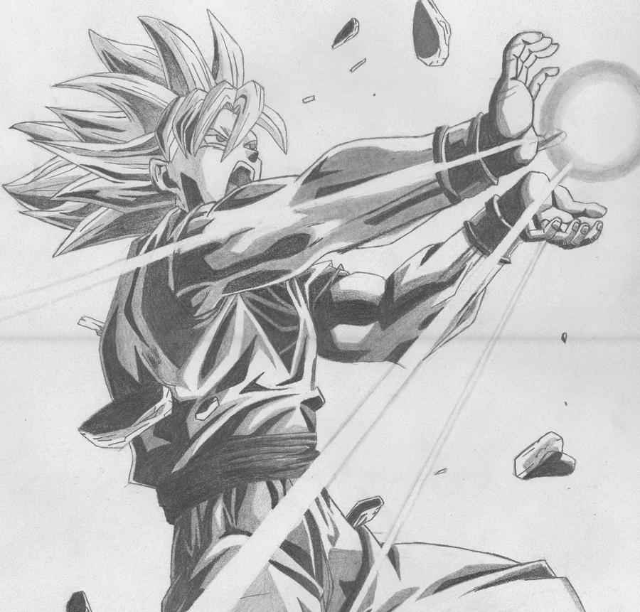 Goku made with pencil by ivanimanga