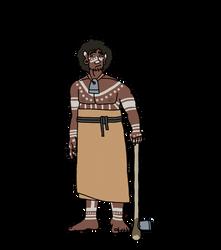 Mesolithic Denic Man by Ofbooksandballpoints