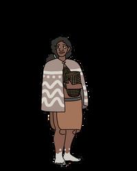Mesolithic Denic Woman by Ofbooksandballpoints