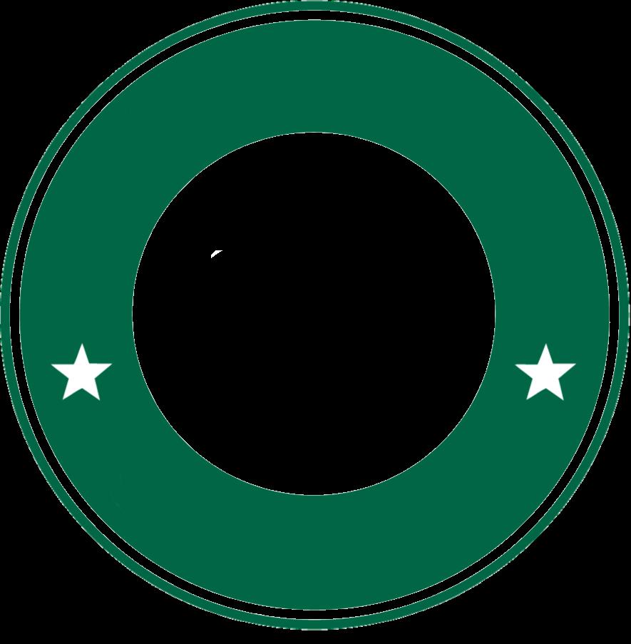 Circulo de StarBucks verde PNG