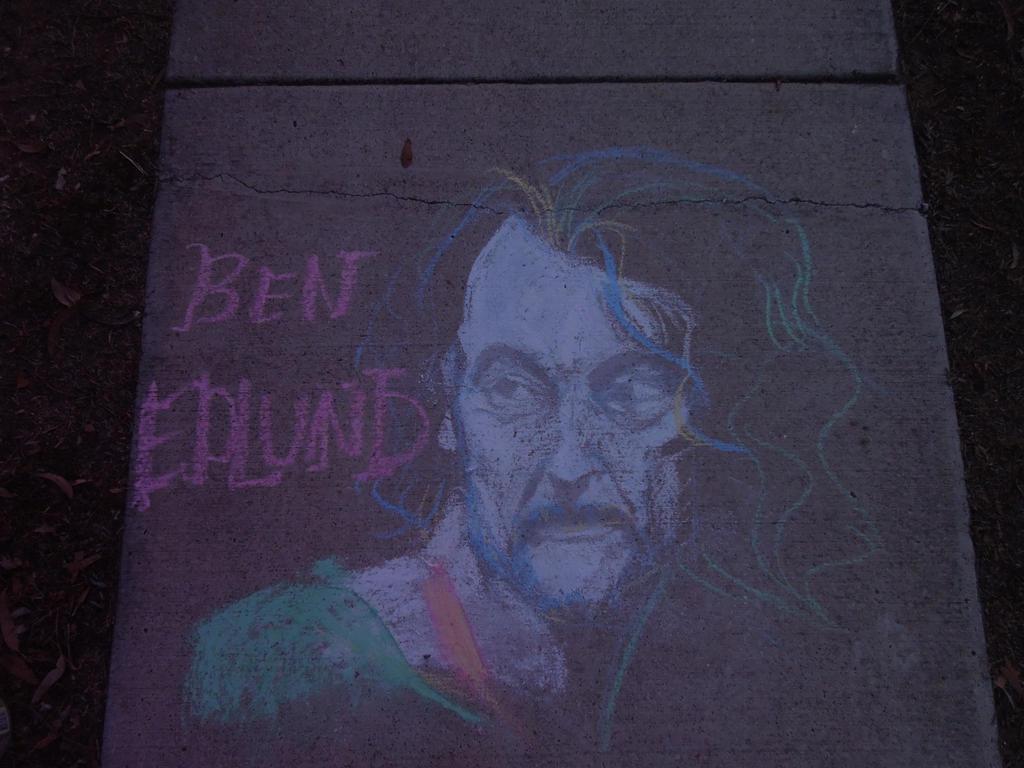 GISHWHES: Edlund in chalk by TanTanTanuki
