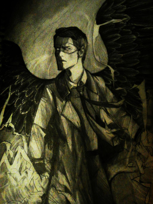 Superhero!Castiel (the Soldier of Heaven) by Fel-Fisk