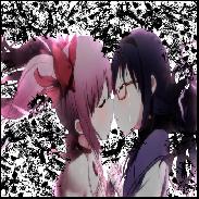 Madoka Magica Homura and Madoka Avatar by RoseSwan