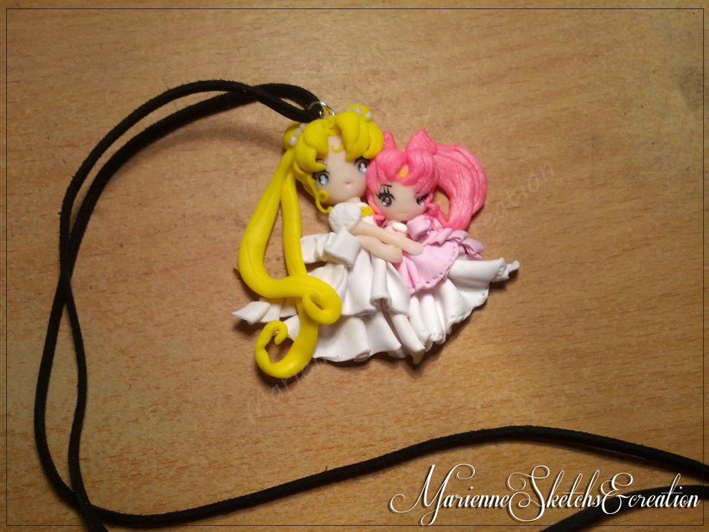 serenity and chibiusa commission by DarkettinaMarienne