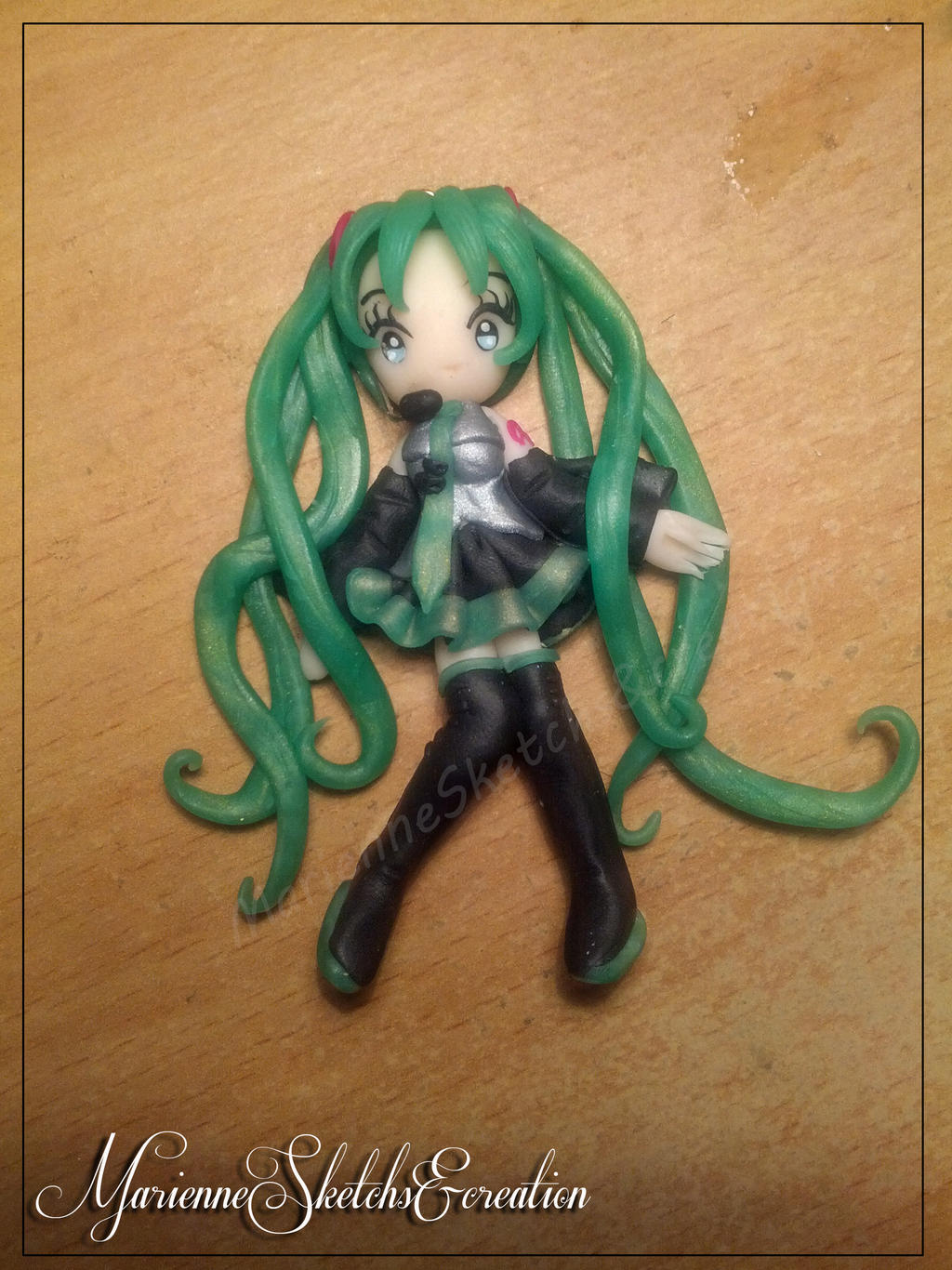 Hatsune Miku Pendant by DarkettinaMarienne