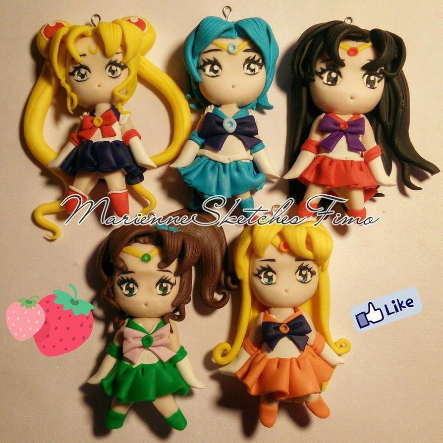 Sailor Senshi Chibi Version Handmade by DarkettinaMarienne