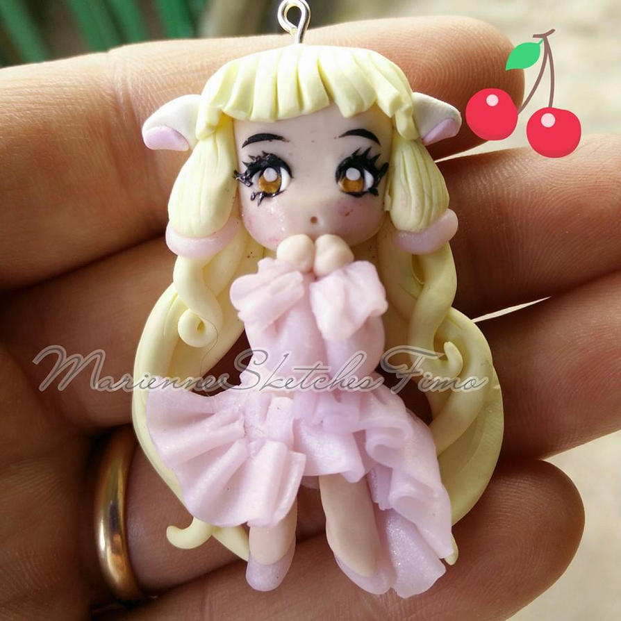 Chii - Chobits handmade chibi version polymer clay by DarkettinaMarienne