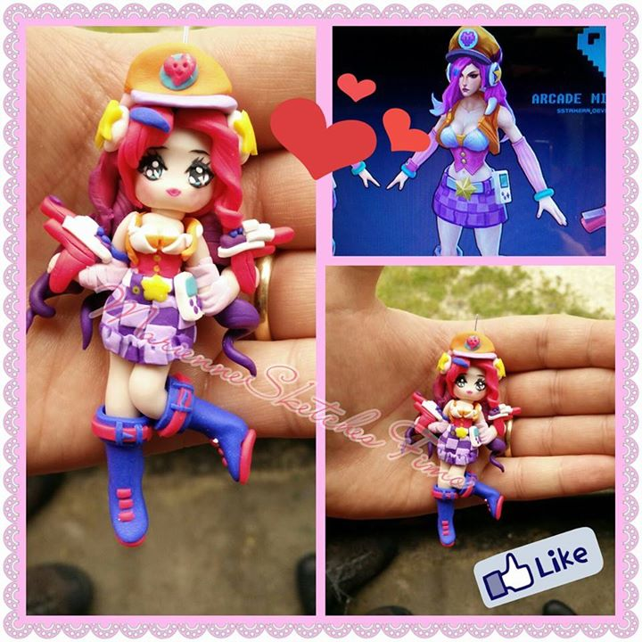 Arcade Miss Fortune LoL Handmade Polymer Clay by DarkettinaMarienne
