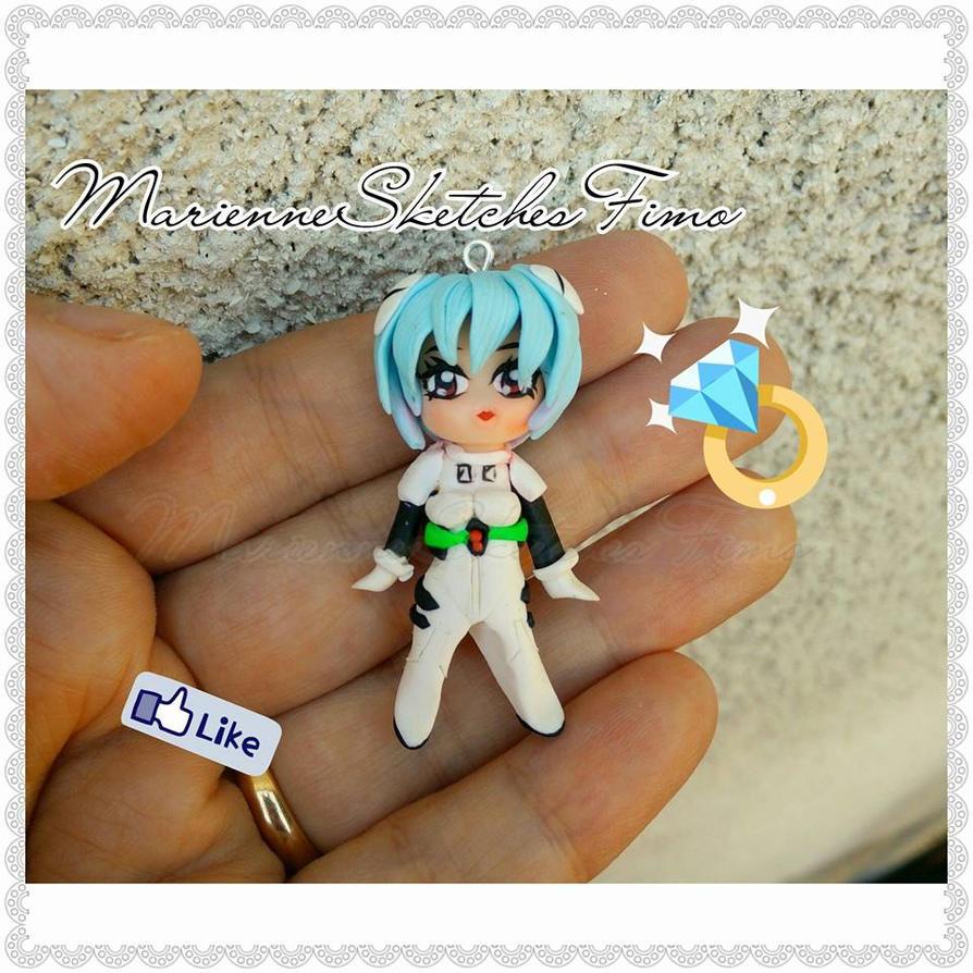 Handmade Rei Ayaname Evangelion Chibi Version by DarkettinaMarienne