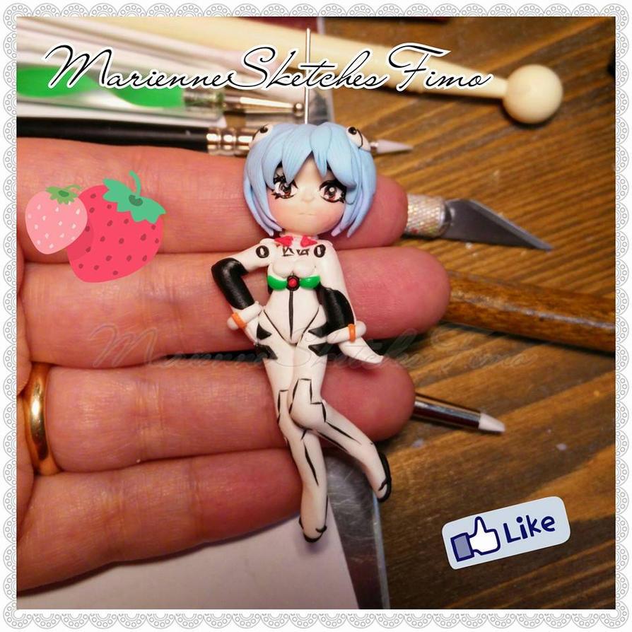 Handmade Rei Ayaname Evangelion Pendant/Necklace by DarkettinaMarienne