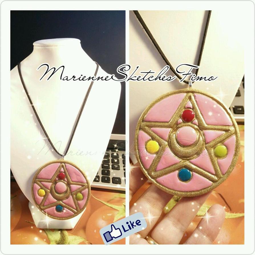 Handmade Sailor Moon Resin Pendant by DarkettinaMarienne