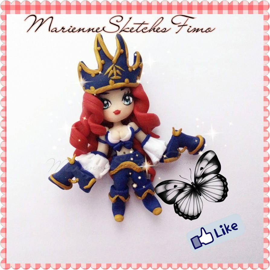 Handmade League of Legends Miss Fortune Chibi Poly by DarkettinaMarienne