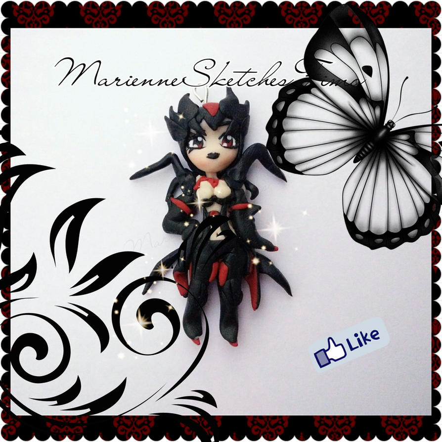 Handmade League of Legends Elise Chibi Polymer Cla by DarkettinaMarienne