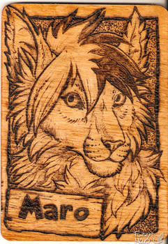 Wooden badge- Pyrography