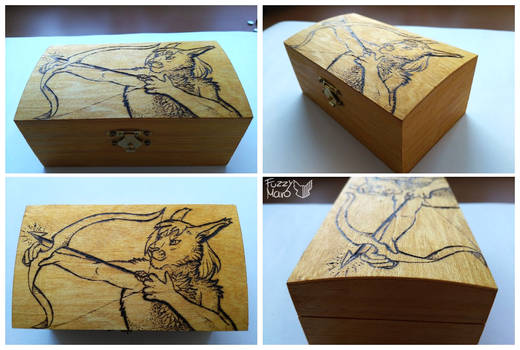 Wooden box-archer