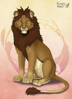 Custom character-lion