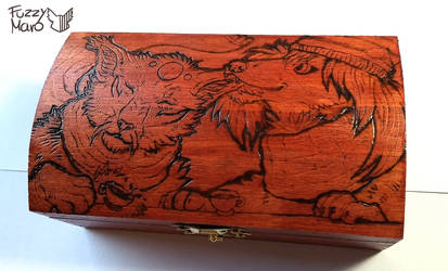 Best friends- wooden box- Pyrography