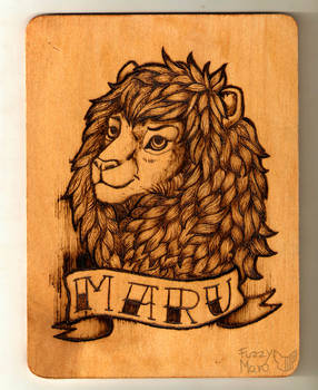 Maru- Pyrography badge