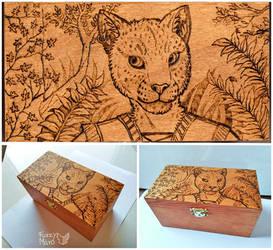 Wooden box- Khajit by FuzzyMaro
