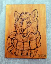 Lupin - portrait burned on wood by FuzzyMaro