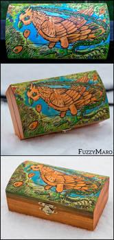 Magical bird-Pyrography by FuzzyMaro