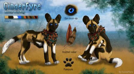 CinderFyre- character sheet by FuzzyMaro