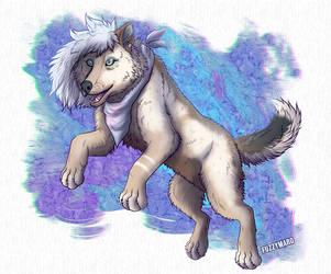 Pastel wolfy  by FuzzyMaro
