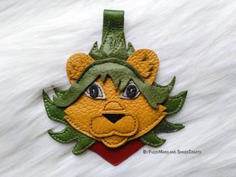 Lion-Leather pendant by FuzzyMaro