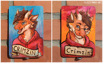 Wooden badge - dragon by FuzzyMaro