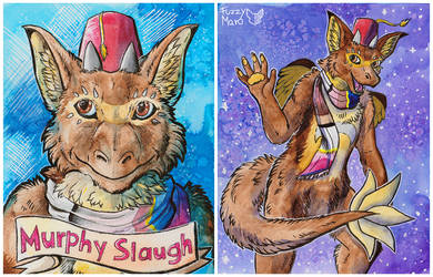 Murphy Slaugh-Laminated badge  by FuzzyMaro