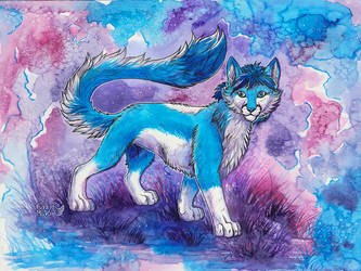 Waveon-watercolor painting by FuzzyMaro